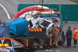 M5 fatal crash update: Police hail 'bravery' of public after four die and woman and two children are seriously hurt when lorry crosses central reservation