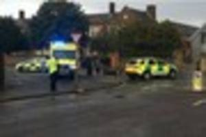broomfield road crash: paramedics and police on scene after...