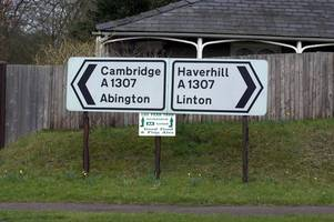 Two crashes on A1307 near Cambridge this morning
