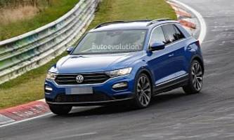 spyshots: vw t-roc r with quad exhaust likely has 300+ hp