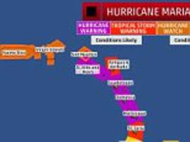 Hurricane Maria now a Category 5 hitting Caribbean islands