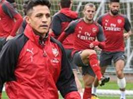 arsenal train ahead of efl cup clash against doncaster