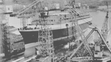 qe2 launch remembered by shipworker