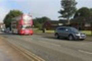 walsall to burntwood bus crashes in high street, brownhills...