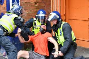 grimsby town and sheffield united fans in cleethorpes battles to be sentenced