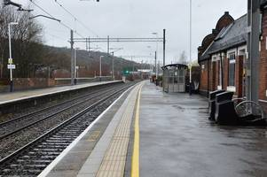 Man on railway track in Stoke-on-Trent 'blown out of path' of oncoming train