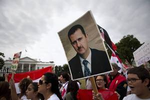countries opposing assad say reconstruction for syria depends on political transition