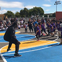 Oakland Raider Jared Cook and UnitedHealthcare Donate Physical Education Equipment for Students at International Community School