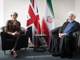 may holds talks with iranian president after trump speech