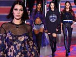 Bella Hadid, Jourdan Dunn and Joan Smalls join Gigi at LFW
