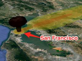 this nuclear explosion simulator shows where radioactive fallout would go using today's weather