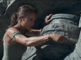 watch alicia vikander wield an array of deadly weapons in the action-packed trailer for 'tomb raider'