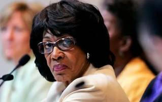 caught on video: maxine waters uses funeral speech to push trump impeachment