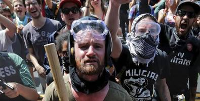 wsj turns on antifa: violent, black-clad protesters are dividing the left