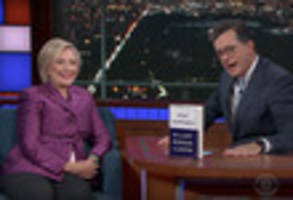hillary clinton critiqued trump's 'dangerous' un speech on colbert