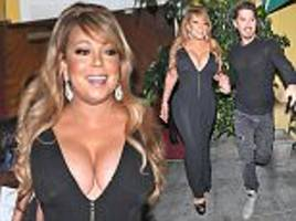 mariah carey steps out in most eye-popping dress yet