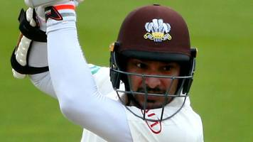 surrey v somerset: kumar sangakkara hits eighth century of the season at the oval
