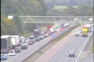 M5 crash: Drivers to face delays ALL DAY while emergency repairs are carried out after HGV smashed into central reservation