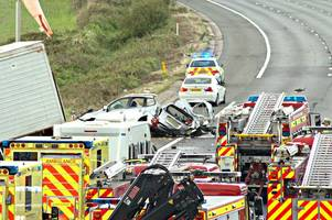M5 fatal crash: Police say formal identification of victims won't be completed this week as officers prepare to interview 50 witnesses