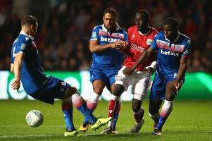 star furious that stoke couldn't do it on a tuesday night at bristol