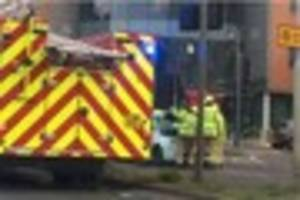 two car smash-up in chelmsford causes gridlock traffic for...
