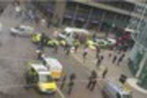 images show armed police near liverpool street station after...