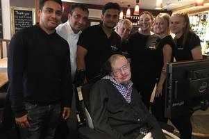 stephen hawking popped in for a sunday roast at this restaurant