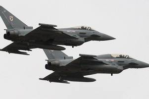 raf fighter jets sent to monitor russian military planes heading for scotland