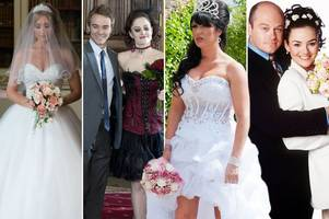 the best and worst soap wedding dresses from eastenders, coronation street and emmerdale