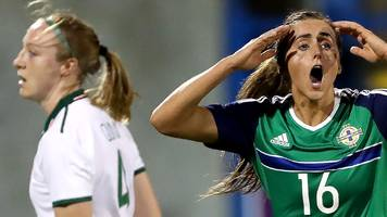 women's world cup 2019 qualifier: no flags at ni v republic match after threat