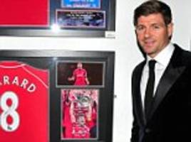 liverpool legend steven gerrard inducted into hall of fame