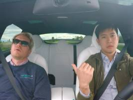 the tesla road trip — things get tense as we argue about directions, hair loss, driving, supercharger stations, and naps