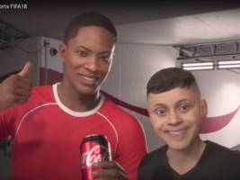 why coke is endorsing a fake sports star