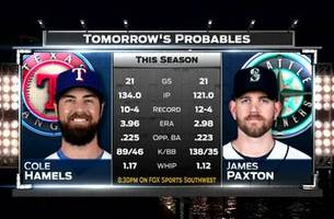 Cole Hamels on the mound in finale   Rangers Live