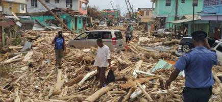 whole towns have been wiped out hurricane maria devastates tiny caribbean island of dominica