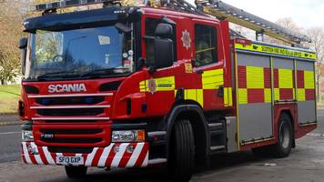 firefighters tackle blaze at factory in cowie