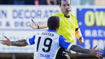 St Johnstone: Ricky Foster issued notice of complaint for 'excessive misconduct'