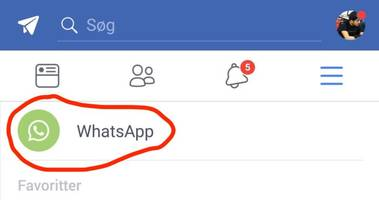 Facebook is testing a new WhatsApp button in its main app