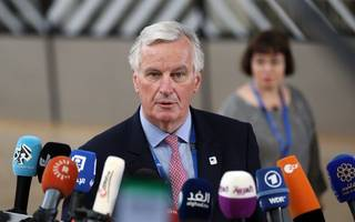 "barnier to listen ""attentively, constructively"" (and remotely) to pm speech"