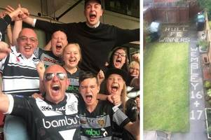 Hull FC superfan's patio tribute to Wembley champions after Challenge Cup win