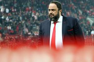 nottingham forest owner evangelos marinakis watches reds for first time - against chelsea