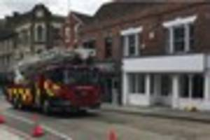 Colchester road closed after firefighters rush to scene of fire