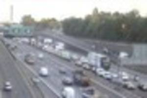 Severe delays at the Dartford Crossing after two lanes on the M25...