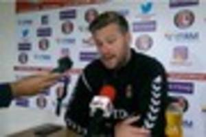Charlton Athletic boss Karl Robinson says 'there is no doom and...
