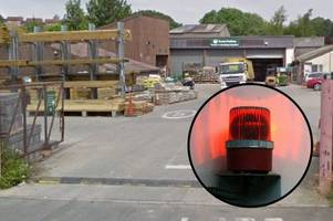 'furious' locals driven bonkers by six hour alarm blaring at travis perkins forced to call police
