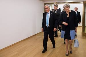 may to urge new partnership, transition period for brexit