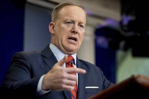 sean spicer claims he didn't 'knowingly lie' for trump