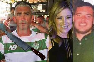 'you f***ing murdering c**t' court chaos as party knife killer caged for double slaying