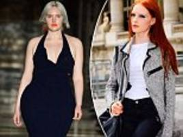 plus-size model first walked lfw with an eating disorder