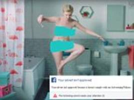 Razor ad BANNED from Facebook for breaching nudity rules